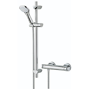 Bristan Artisan Thermostatic Surface Mounted Shower Valve & Adjustable Riser AR2SHXMTFFC