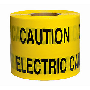 Caution Underground Hazard Tape Yellow 365m x 150mm