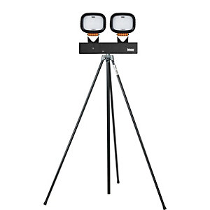 Defender 110V Twin LED 6000 On Swing Leg Tripod