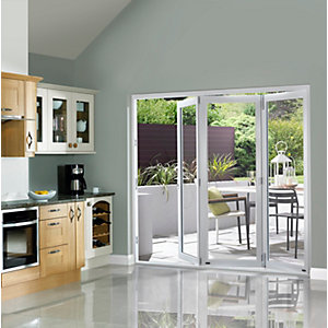 Slimline External Pre-finished White Bifold Door Set