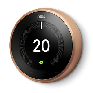 Nest Copper 3RD Generation Learning Thermostat (Without Adapter + USB) T3029EX
