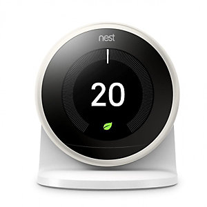 Nest White 3RD Generation Smart Learning Thermostat and 3RD Generation Stand