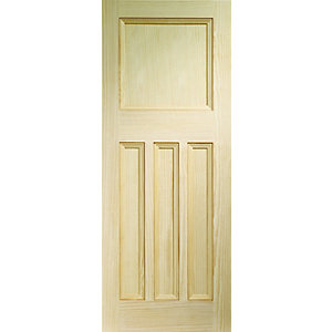 Softwood DX Vertical Grained Clear Pine Internal Door Height 1981mm