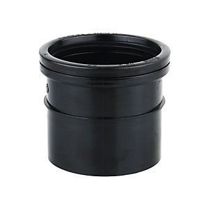 OsmaSoil 4S124B 110mm Ring-Seal/Solvent Weld Single Socket Black