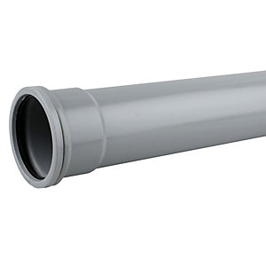 OsmaSoil 4S043G 110mm Socketed Pipe Grey 3M
