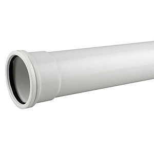 OsmaSoil 4S043W 110mm Socketed Pipe White 3M
