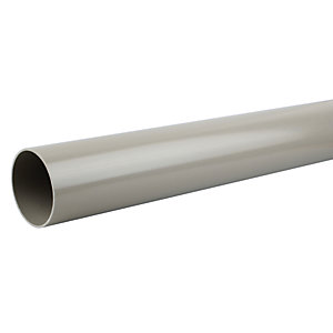 OsmaSoil 4S073E 110mm Plain Ended Pipe Olive 3M
