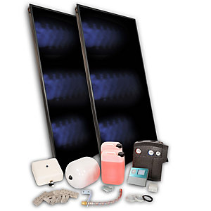 Solfex 2 x  FK500P On Roof Solar Thermal Prestige Pack