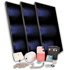 Solfex 3 x  FK500P On Roof Solar Thermal Prestige Pack Slate