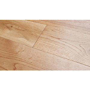 Solid Wood Flooring Style T47 Natural Oak Flooring Brushed & Oiled 18mm x 150mm - 1.98m² Pack Coverage