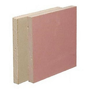 British Gypsum Gyproc Fireline Plasterboard Square Edge 2400mm x 1200mm x 12.5mm (2.88m²/ Sheet)