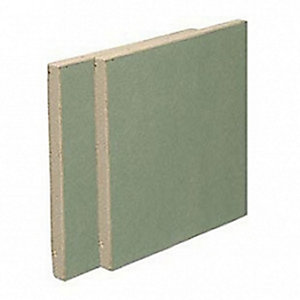 British Gypsum Gyproc Moisture Resistant Plasterboard Tapered Edge 12.5mm 2400mm x 1200mm x 12.5mm (2.88m²/ Sheet)