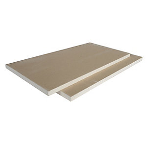 British Gypsum Gyproc Plank Grey Straight Edge 2400mm x 600mm x 19mm (1.44m²/Sheet)