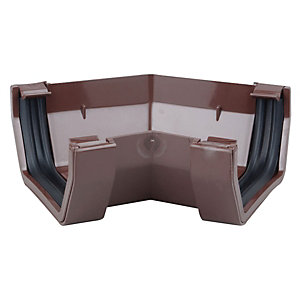 Osma SquareLine 4T804 Gutter Angle 45° 100mm Brown
