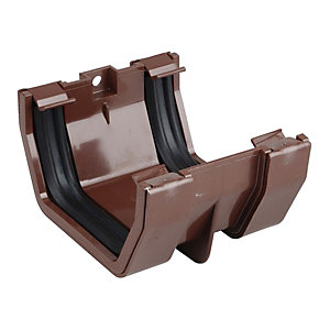Osma SquareLine 4T805 Gutter Jointing Bracket 100mm Brown