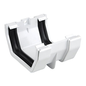 Osma SquareLine 4T805 Gutter Jointing Bracket 100mm White