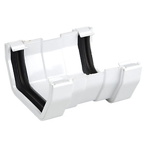 Osma SquareLine 4T809 Gutter Union 100mm White