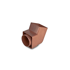 Osma SquareLine 4T826 Offset Bend Spigot 61mm Brown