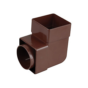 Osma SquareLine 4T862 Pipe Bend 87.5° 61mm Brown