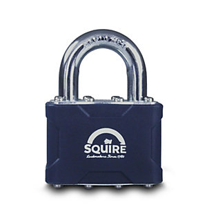 Squire Laminated Padlock Open Shackle