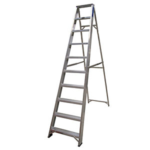Lyte EN131-2 Professional Swingback Stepladder 10 Tread