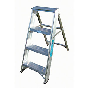 Lyte EN131-2 Professional Swingback Stepladder 4 Tread
