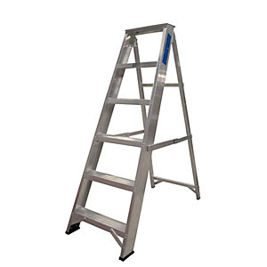 Lyte EN131-2 Professional Swingback Stepladder 6 Tread
