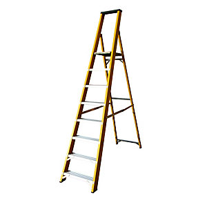 Lyte EN131 Heavy Duty Glassfibre 8 Tread Platform Ladder