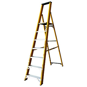 Lyte EN131 Heavy Duty Glassfibre Step 7 Tread Platform Ladder