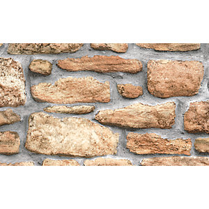 Fablon Sticky Back Plastic FAB10226 Stone Wall 45cm x 2m