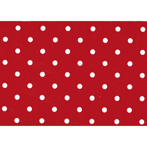 Fablon Sticky Back Plastic FAB12594 Polka Dot Red 45cm x 2m