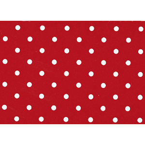 Fablon Sticky Back Plastic FAB12595 Polka Dot Red  45cm x 15m