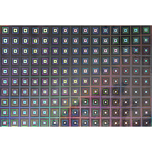 Fablon Sticky Back Plastic FAB13798 Holographic Squares - Silver 45cm x 1.5m