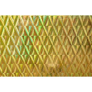 Fablon Sticky Back Plastic FAB13808 Holographic - Gold Diamond 45cm x 1.5m