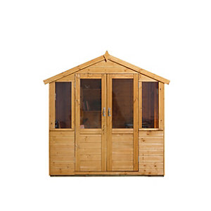 Barleywood Summerhouse Natural Timber 2133mm x 1524mm