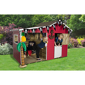 Basil Multiplay Playhouse Natural Timber