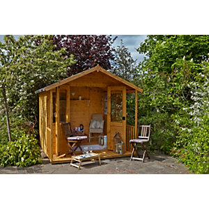 Hollington Summerhouse Natural Timber 2438mm x 2438mm