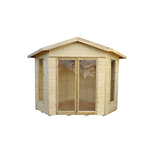 Honeybourne Summerhouse - 8 x 8 Shiplap Corner Pressure Treated