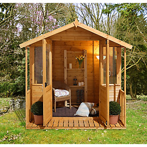 Maplehurst Summerhouse Natural Timber 2133mm x 2133mm