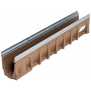 ACO Multidrain Channel Galvanised Rail 135mm x 200mm x 1000mm