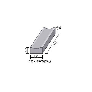 BS Concrete Dished Channel CD RK3600000 255mm x 125mm - Pack of 16