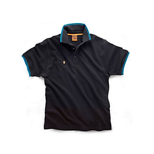 Scruffs Worker Polo Black Size M