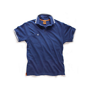 Scruffs Worker Polo Blue Size M
