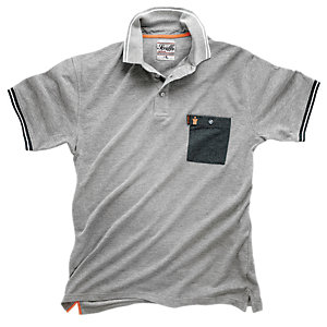 Scruffs Worker Polo Grey Marl XL