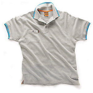 Scruffs Worker Polo Grey Size M