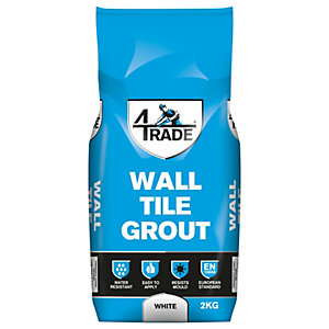 4TRADE Wall Tile Grout White - 5kg