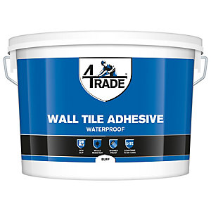 4TRADE Waterproof Wall Tile Adhesive Buff - 10L