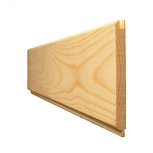 Travis Perkins Redwood Tongue and Grooved V Jointed Matchboard Standard 12.5mm x 100mm