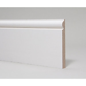 MDF Skirting Board Moulded and Primed Torus 18mm x 144mm x 4.4m