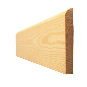Skirting Board Timber Bullnosed Standard 12BN94S 16mm x 100mm - Finished Size 12mm x 94mm
